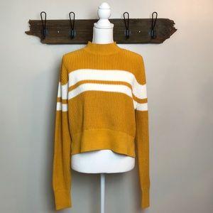 Sweater Mustard Pacsun Lottie Moss Stripe NWT
